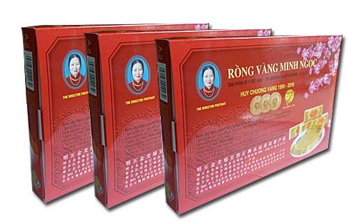 Bánh đậu xanh rồng vàng Minh Ngọc(KHA2 to trọng lượng 400gr)