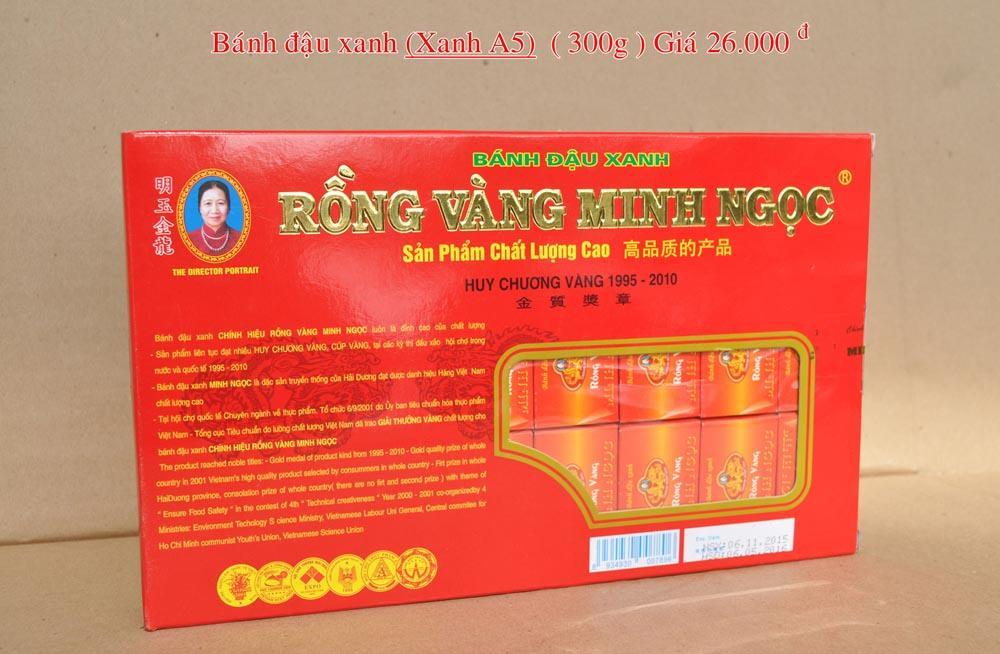 Bánh đậu xanh Rồng Vàng Minh Ngọc (KHA5 trọng lượng 320g)