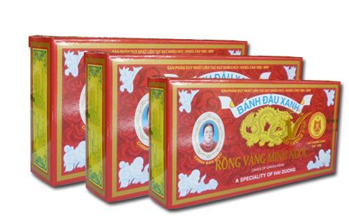 Bánh đậu xanh Rồng Vàng Minh Ngọc (KH A9 trọng lượng 240g)